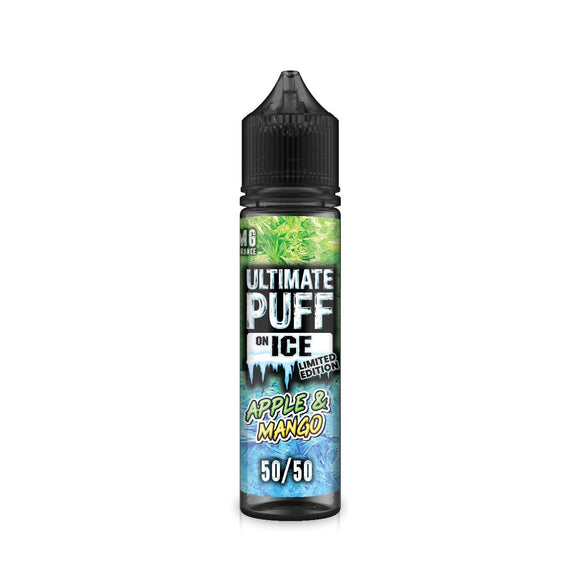 ULTIMATE PUFF,ON ICE,APPLE & MANGO,E-LIQUID,50VG,50PG,HUFF N PUFF VAPOURS