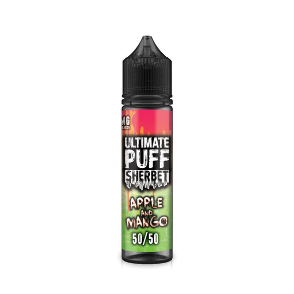 ULTIMATE PUFF,SHERBET,APPLE & MANGO,E-LIQUID,50VG,50PG,HUFF N PUFF VAPOURS