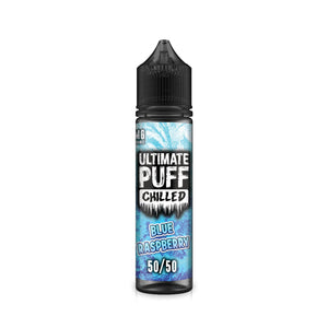 ULTIMATE PUFF,CHILLED,BLUE RASPBERRY,E-LIQUID,50VG,50PG,HUFF N PUFF VAPOURS