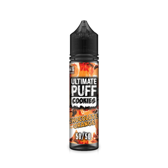 ULTIMATE PUFF,COOKIES,CHOCOLATE ORANGE,E-LIQUID,50VG,50PG,HUFF N PUFF VAPOURS