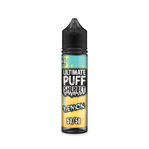 ULTIMATE PUFF,SHERBET,LEMON,E-LIQUID,50VG,50PG,HUFF N PUFF VAPOURS