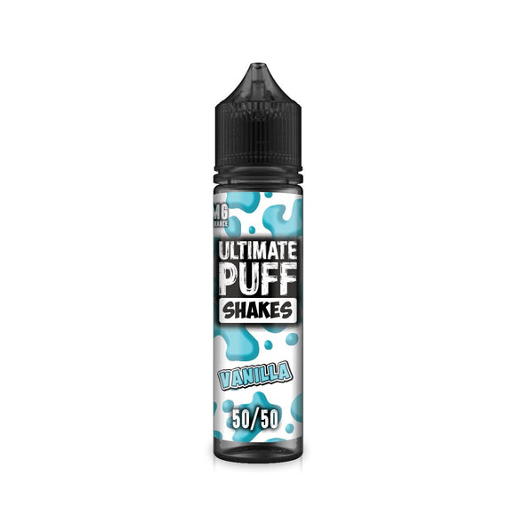 ULTIMATE PUFF,SHAKES,VANILLA,E-LIQUID,50VG,50PG,HUFF N PUFF VAPOURS