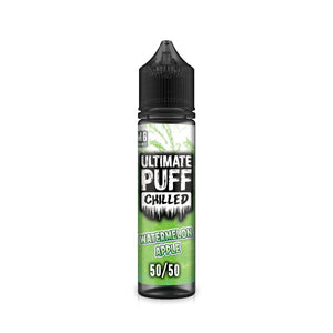 ULTIMATE PUFF,CHILLED,WATERMELON APPLE,E-LIQUID,50VG,50PG,HUFF N PUFF VAPOURS