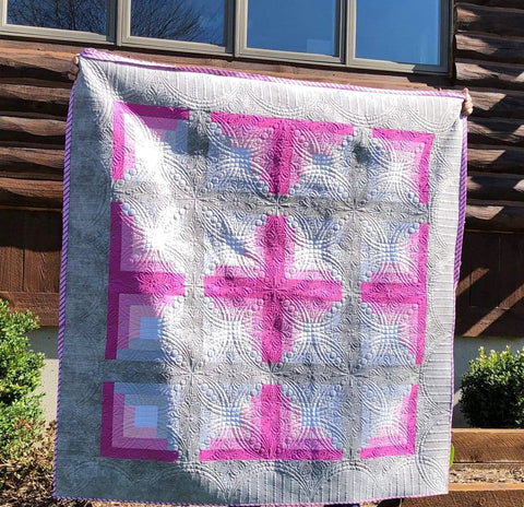 Double Wedding at the Log Cabin Piecing Pattern