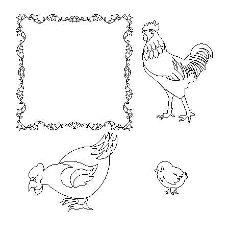 Folk Art Rooster Set