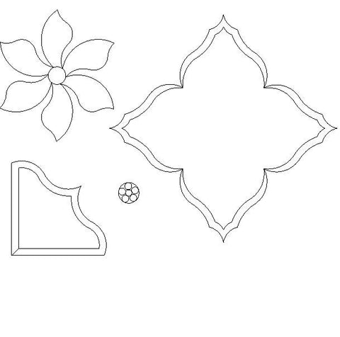 Poinsettia Raw Edge Applique Pattern Set