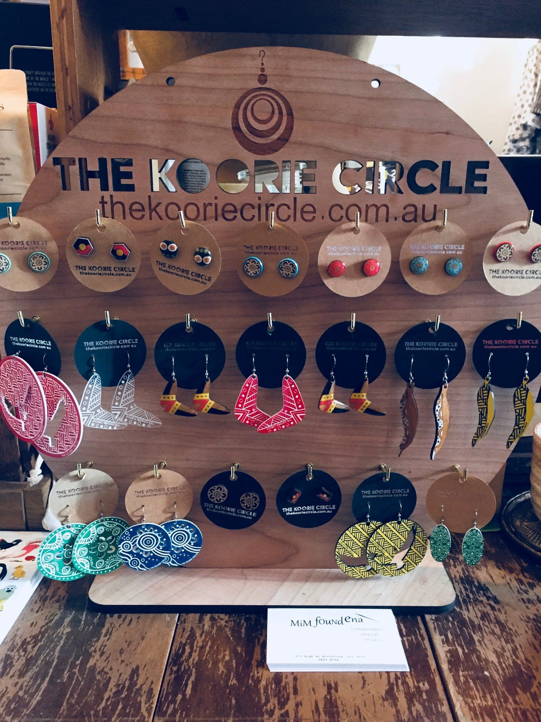 The Koorie Circle Shop Earring Display Board