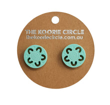 *New* Mint Green Cut Out Campfire Studs