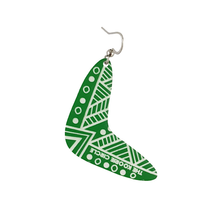 Boomerang Dangle Aboriginal Earrings