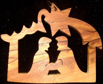 Olive Wood  Ornament with family