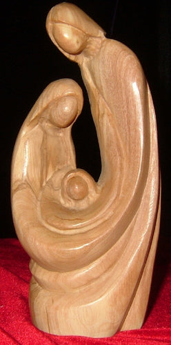 Olive Wood Statue of the HolyFamily