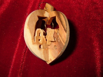 Hand Made Olive Wood Chrurch Ornament (3 dimentional)