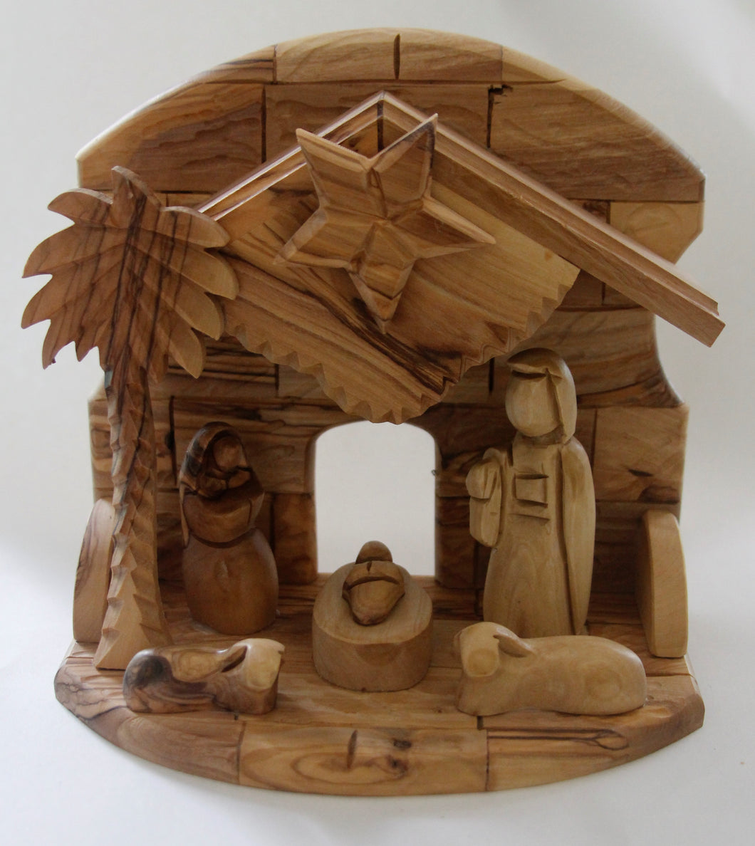 Olive Wood Musical Nativity Set