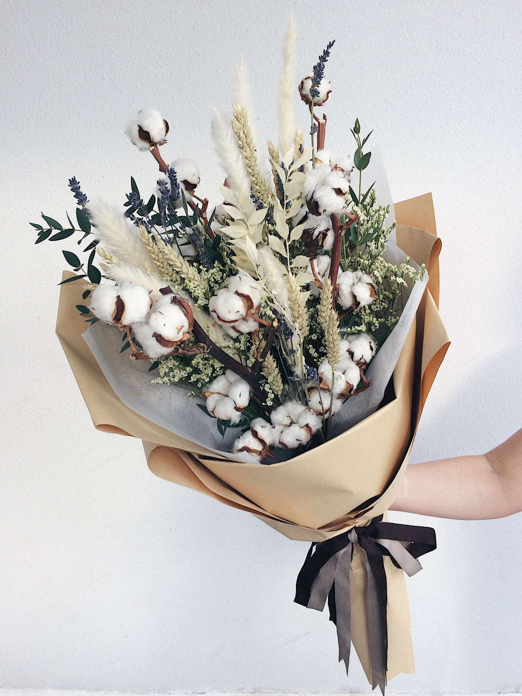 Dried Flowers Bouquet Cotton Lavender Delivery Singapore The Magnolia Loft