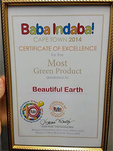 Beautiful Earth scoops Most Green Product award