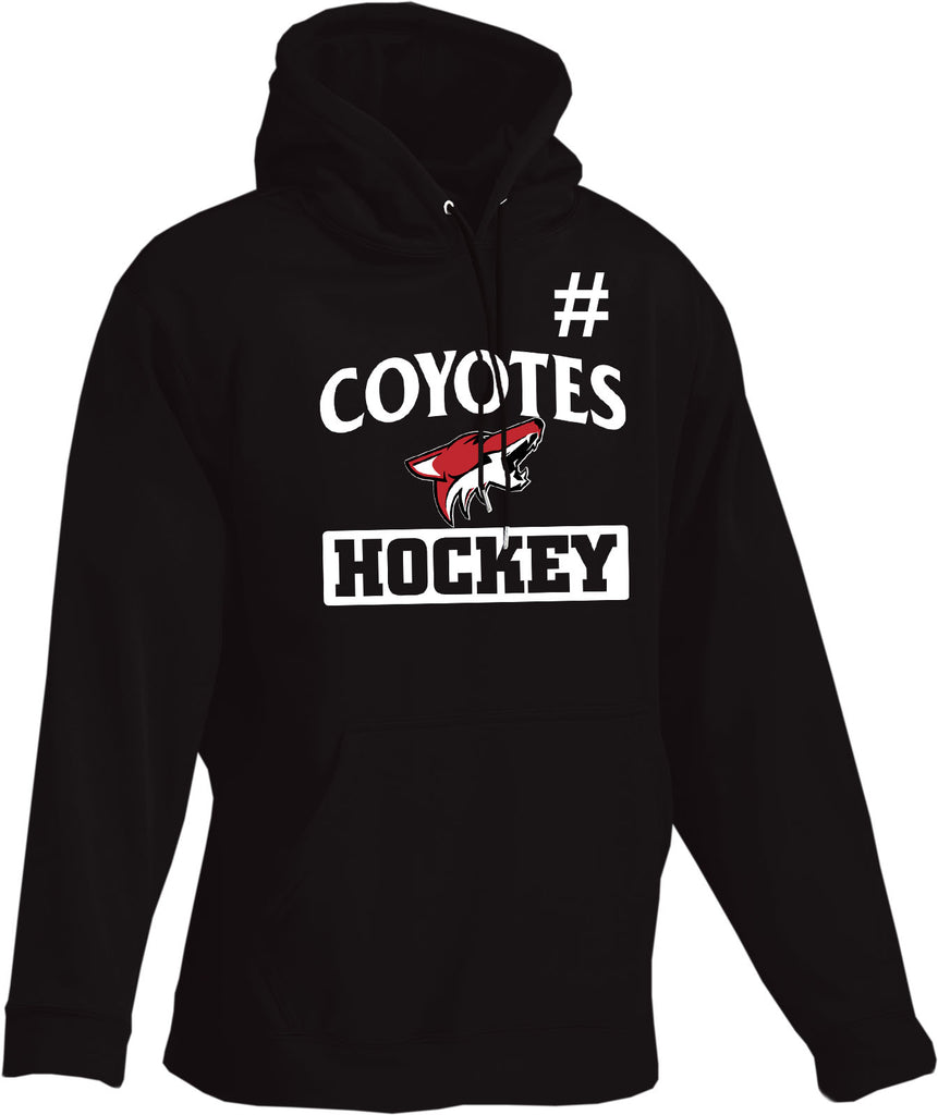 Coyotes Team Performance Hoodie (CUSTOMIZED WITH NUMBER *Optional)