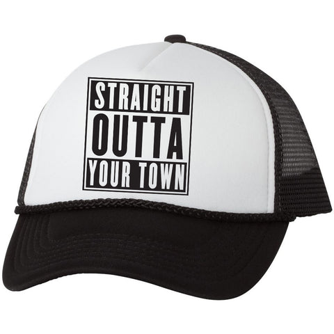 *Custom* Straight Outta Somewhere Trucker Mesh Back