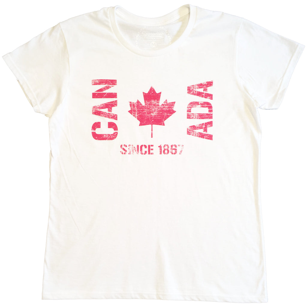 CAN ADA Flag Since 1867 Ladies Tee