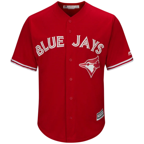 Blue Jays Replica Adult Alternate Red Jersey by Majestic (CUSTOMIZED)