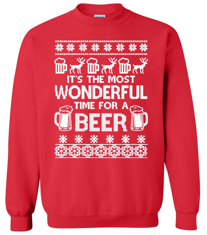 It's the most Wonderful Time for a Beer - Ugly Christmas Sweater