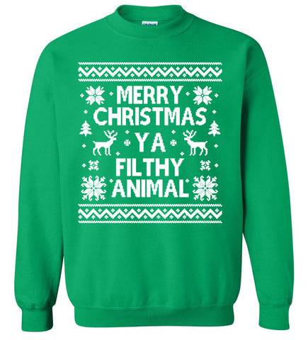 Merry Christmas Ya Filthy Animal - Ugly Christmas Sweater