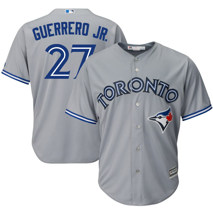 7aa7e5e4b6d Blue Jays Replica Adult Road Jersey by Majestic (GUERRERO JR ...