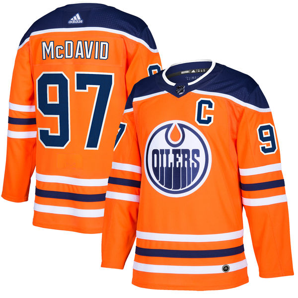 Edmonton Oilers Connor McDavid adidas Orange Authentic Player Jersey