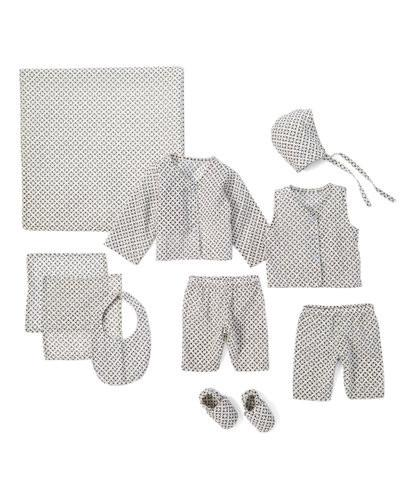 10pc. Black and White Geometric Print Layette Set 10-pc. set Yo Baby Wholesale
