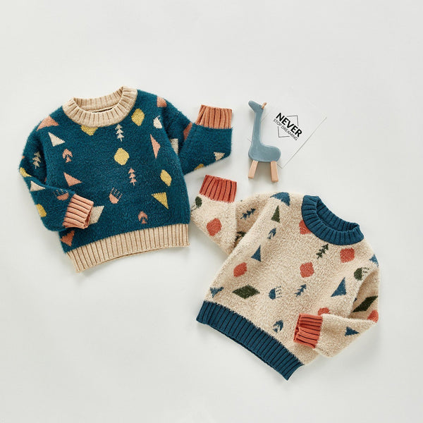 Abstract Infant Ultra-Soft Sweater - Unisex Dress Yo Baby India