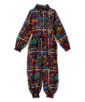Black Abstract Animals Print Jumpsuit Dress Yo Baby Wholesale