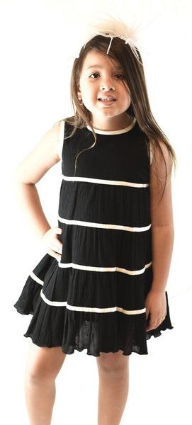 Black & White Tier Dress 2-pc. set Yo Baby Wholesale