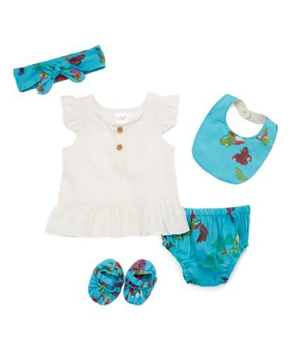 Blue Butterfly Print 5 pc. Set 5-pc. Set Yo Baby Wholesale