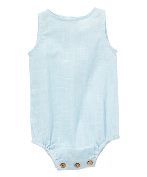 Blue Unisex Sleeveless Romper Dress Yo Baby Wholesale