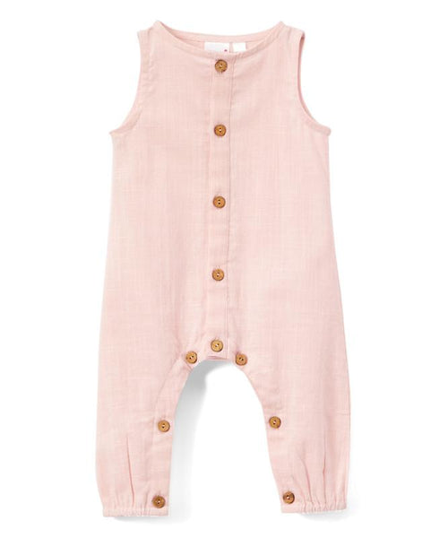 Blush Unisex Sleeveless Romper Dress Yo Baby Wholesale