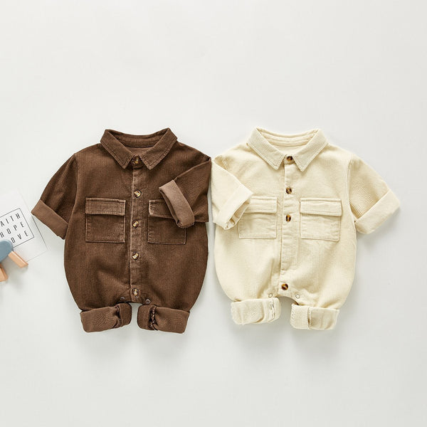 Boys Infant Corduroy Full Sleeves Romper Yo Baby India