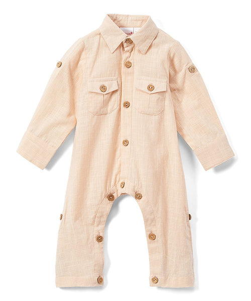 Boys Infant Full Sleeves Romper - Salmon diaper covers Yo Baby Wholesale