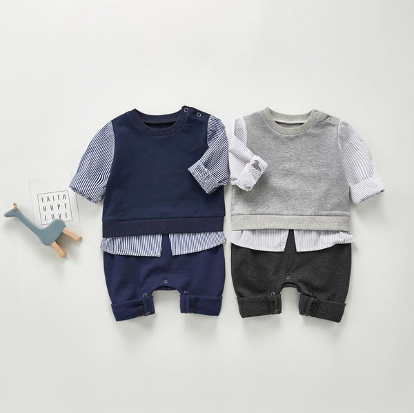 Boys Infant One-Piece Shirt & Pants Romper Yo Baby India