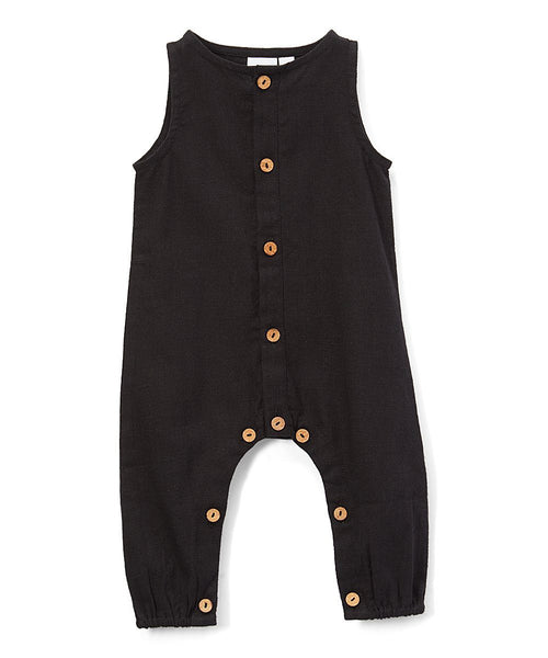 Boys Infant Sleeveless Romper - Black diaper covers Yo Baby Wholesale