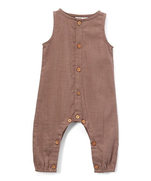 Boys Infant Sleeveless Romper - Chocolate diaper covers Yo Baby Wholesale