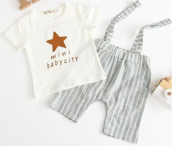 Boys Infant Two Piece T-Shirt & Pants Set Yo Baby India