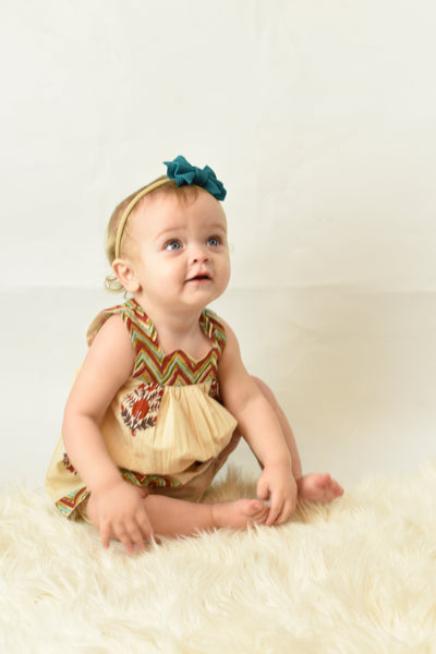 Chevron And Floral Sweetheart Neck Dress And Diaper Cover Dress Yo Baby Wholesale