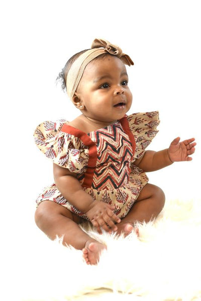 Chevron & Floral Printed Angel Dress Dress Yo Baby Wholesale