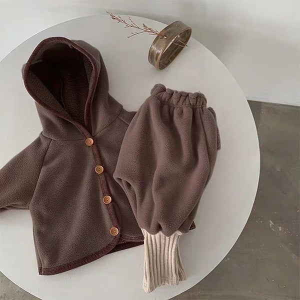 Chocolate Infant Hooded Fleece Jacket & Pants Set - Unisex Dress Yo Baby Wholesale