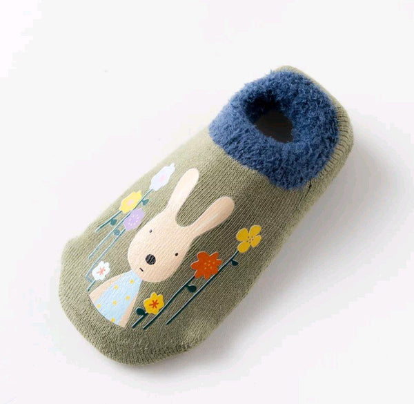 Cotton Floor Socks - Olive Rabbit Yo Baby Wholesale