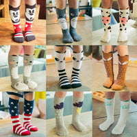 Cotton Knee Socks - Black & White Stars Yo Baby Wholesale