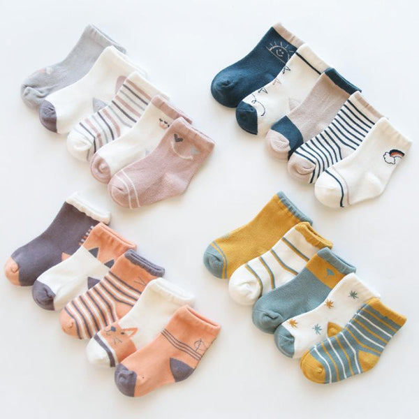 Cotton Socks - Set of 5 Pairs Yo Baby Wholesale