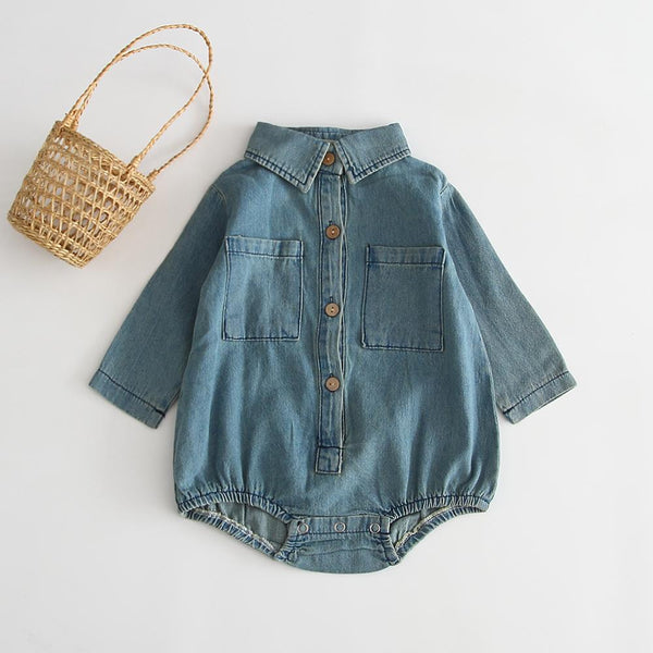 Denim Shirt Romper - Unisex Dress Yo Baby Wholesale