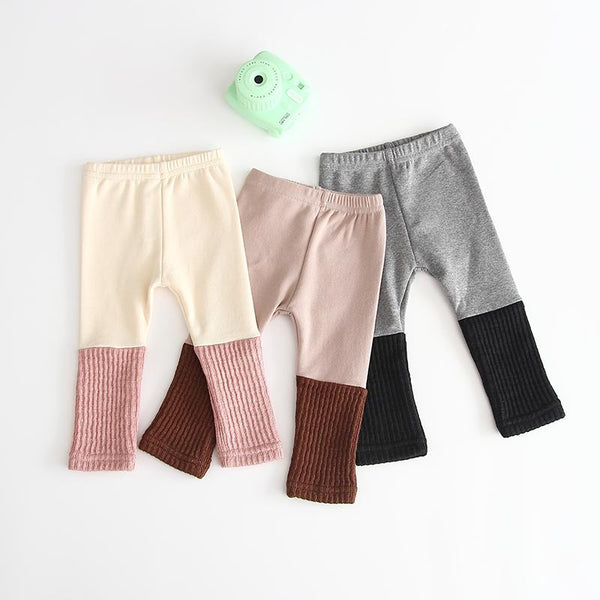 Dual Colour Ribbed Pants/Tights - Unisex Yo Baby India