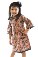 Floral Bell Sleeves Shift Dress Dress Yo Baby Wholesale