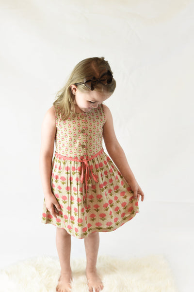 Floral Shift Dress With Drawstring Detail Dress Yo Baby Wholesale